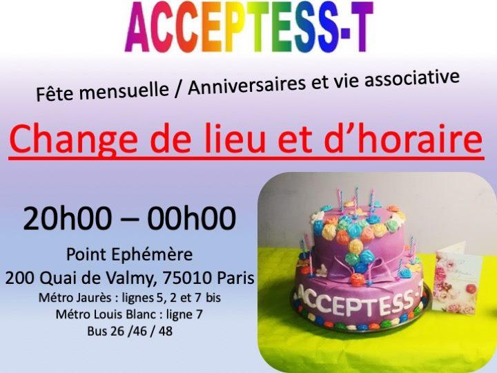 巴黎Fête Mensuelle - Fiesta Mensual2019年 8月11日,20:00(男同性恋, 女同性恋, 变性, 双性恋 下班后的活动)