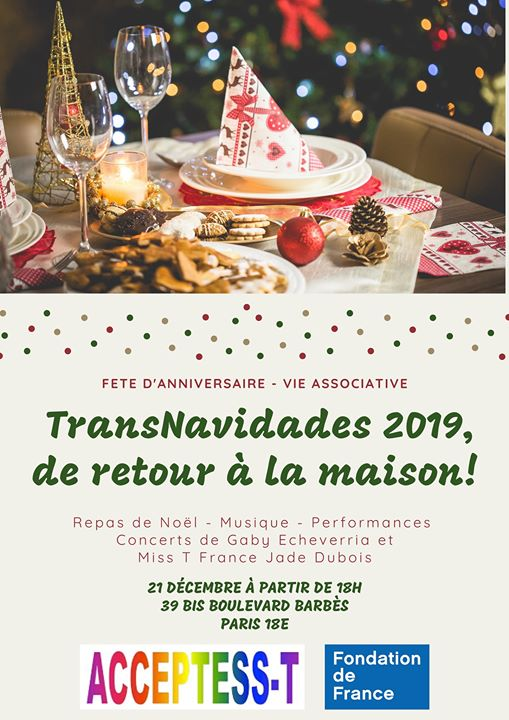 Fête Mensuelle - Fiesta Mensual in Paris le Fri, December 20, 2019 from 08:00 pm to 12:00 am (After-Work Gay, Lesbian, Trans, Bi)