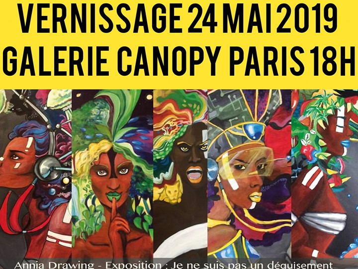 EXPOSITION VERNISSAGE DIIVINESLGBTQI+/ANNIA DRAWING EXCLUSIVITÉ in Paris from 24 til May 26, 2019 (Expo Gay Friendly, Lesbian)