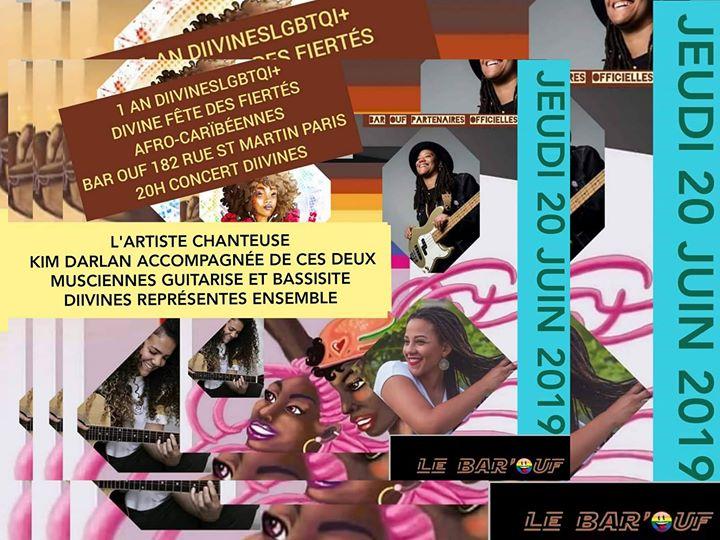DIIVINES FÊTES DES FIERTÉS AFRO-CARÏBÉENNES 1 AN a Parigi le gio 20 giugno 2019 20:00-01:00 (After-work Lesbica)