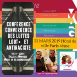 #21MARS ACTIONS DIIVINES JOURNÉE CONTRE/RACISME/LGBTQ/AFROPHOBIE in Paris le Thu, March 21, 2019 from 06:30 pm to 10:30 pm (Meetings / Discussions Lesbian)