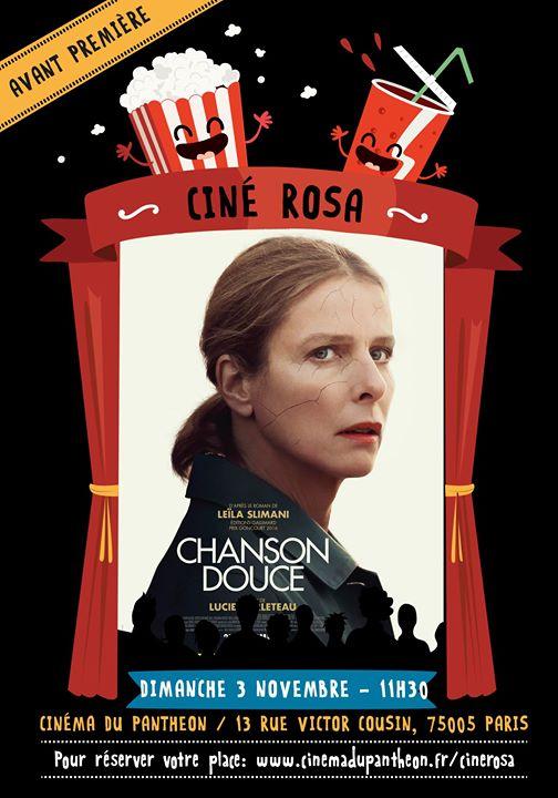 Ciné Rosa : Chanson Douce in Paris le Sun, November  3, 2019 from 11:30 am to 02:00 pm (Cinema Gay Friendly, Lesbian Friendly)