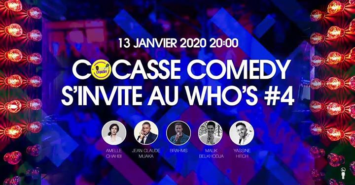 Cocasse Comedy #4 en Paris le lun 13 de enero de 2020 a las 20:30 (After-Work Gay, Lesbiana)