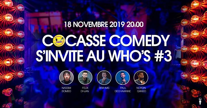 Cocasse Comedy s'invite au Who's #3 in Paris le Mon, November 18, 2019 from 08:30 pm to 10:30 pm (After-Work Gay, Lesbian)