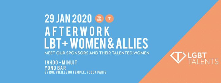 Afterwork LBT+ Women & Allies in Paris le Wed, January 29, 2020 from 07:00 pm to 11:00 pm (After-Work Gay, Lesbian, Trans, Bi)