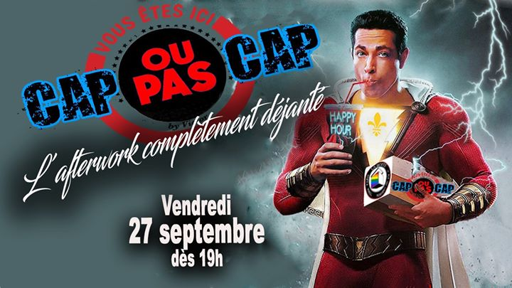 Cap ou pas Cap à Paris le ven. 27 septembre 2019 de 19h00 à 03h00 (After-Work Gay)