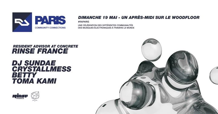 RA Paris: Rinse France + Concrete em Paris le dom, 19 maio 2019 16:00-23:59 (Clubbing Gay Friendly)