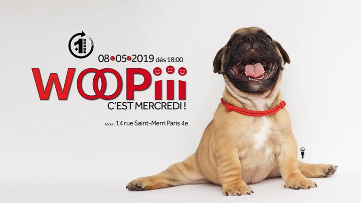 Woopiii, c'est mercredi ! in Paris le Wed, May  8, 2019 from 06:00 pm to 02:00 am (After-Work Gay)