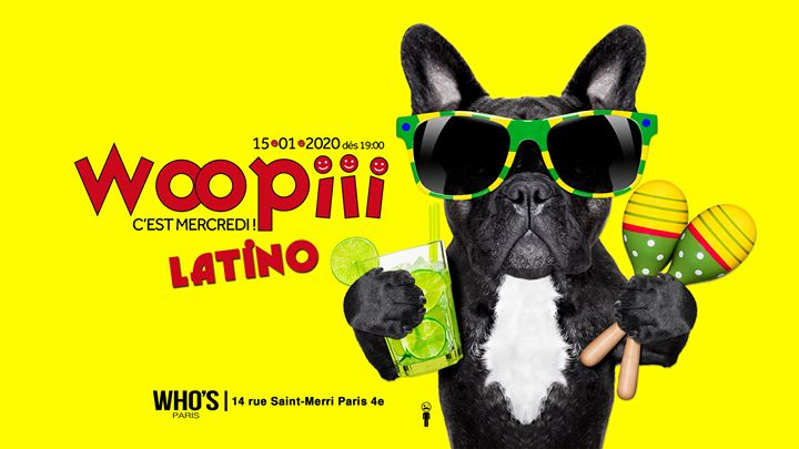 Woopiii Latino en Paris le mié 15 de enero de 2020 19:00-22:00 (After-Work Gay)