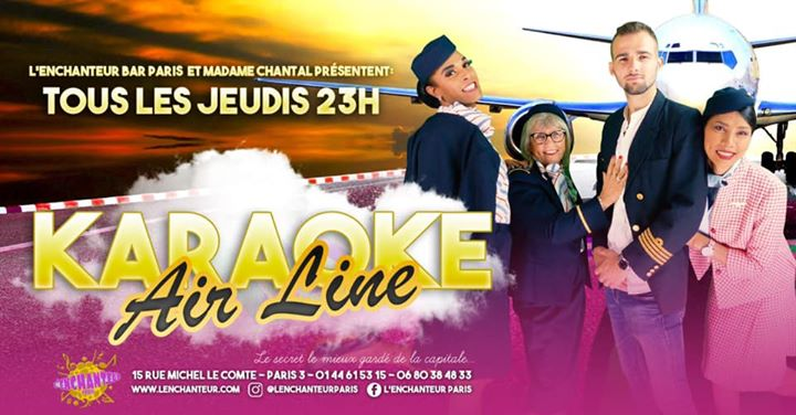 Karaoké AirLine ! Venez prendre votre envol ! a Parigi le gio 21 novembre 2019 alle 23:00 (After-work Gay, Lesbica, Etero friendly)