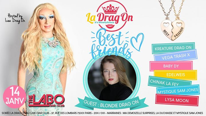 Drag On Saison 2 # Best Friends in Paris le Tue, January 14, 2020 from 08:00 pm to 02:00 am (After-Work Gay)