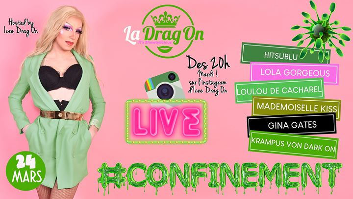 Drag On Saison 2 # confinement in Paris le Tue, March 24, 2020 from 08:30 pm to 01:30 am (After-Work Gay)