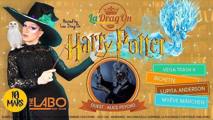 Drag On Saison 2 # Harry Potter in Paris le Tue, March 10, 2020 from 08:30 pm to 01:30 am (After-Work Gay)