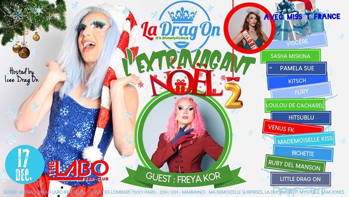 Drag On Saison 2 # L'Extravagant Noël in Paris le Tue, December 17, 2019 from 08:30 pm to 01:30 am (After-Work Gay)