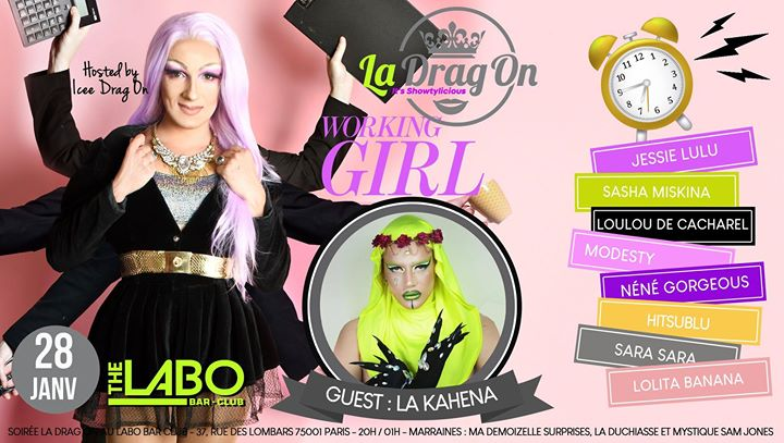 Drag On Saison 2 # Working Girl a Parigi le mar 28 gennaio 2020 20:00-02:00 (After-work Gay)