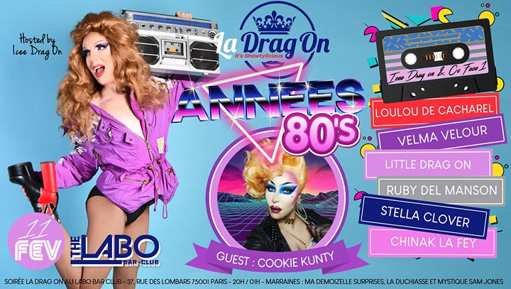 Drag On Saison 2 # Année 80 in Paris le Tue, February 11, 2020 from 08:00 pm to 02:00 am (After-Work Gay)