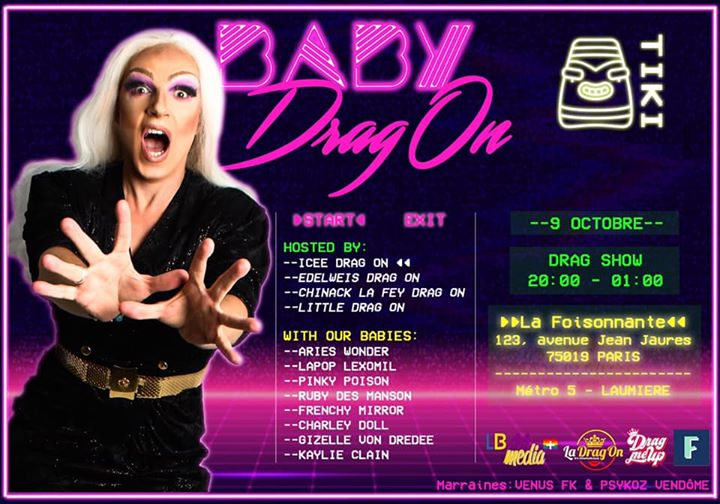 Baby Drag On saison 1 #1 Tiki Tiki in Paris le Mi  9. Oktober, 2019 20.00 bis 01.00 (After-Work Gay)