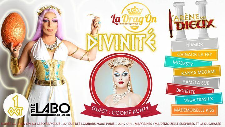 La Drag On saison 2 # 5 Divinité in Paris le Di  1. Oktober, 2019 20.00 bis 01.00 (After-Work Gay)