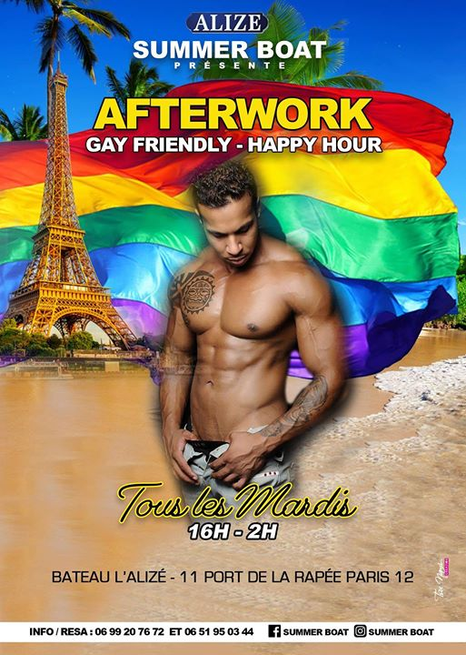 La Summer RainBoat in Paris le Di 23. Juli, 2019 16.00 bis 02.00 (After-Work Gay Friendly)