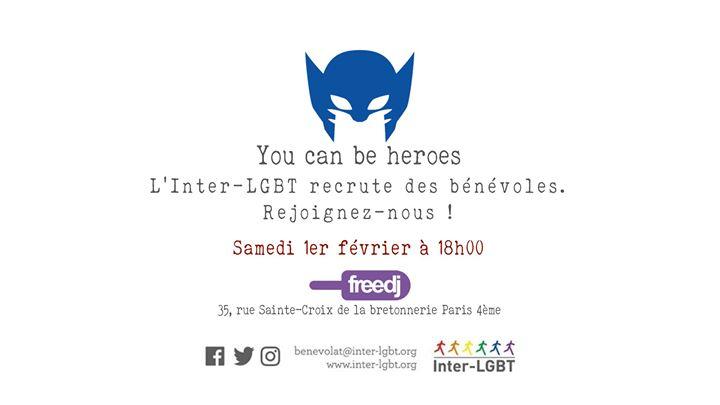 L'Inter-LGBT recrute des bénévoles ! en Paris le sáb  1 de febrero de 2020 18:00-19:30 (After-Work Gay, Lesbiana)