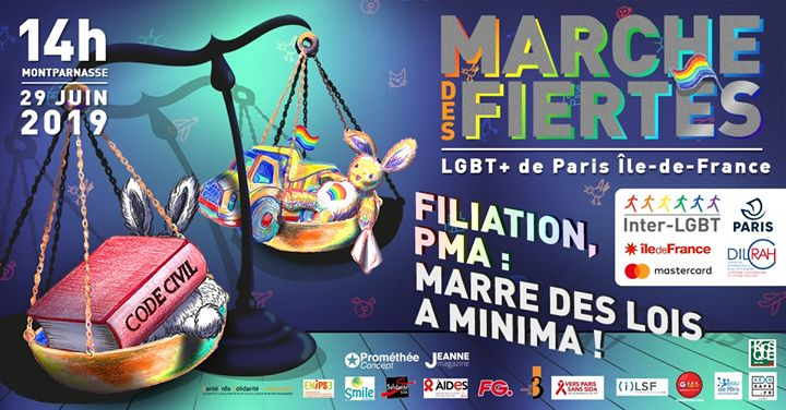 Marche des Fiertés LGBT+ de Paris IDF 2019 in Paris le Sat, June 29, 2019 from 02:00 pm to 07:00 pm (Parades Gay, Lesbian)