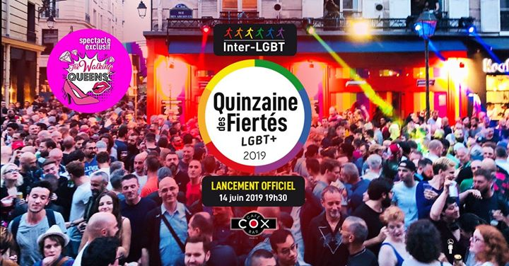 Lancement officiel de la Quinzaine des Fiertés LGBT+ en Paris le vie 14 de junio de 2019 19:00-22:30 (After-Work Gay)