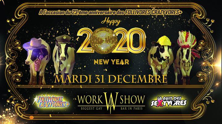 La Nuit des Follivores Crazyvores Sexyvores à Paris le mar. 31 décembre 2019 de 23h00 à 08h00 (Clubbing Gay Friendly)