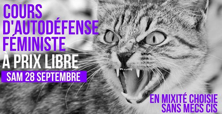 Cours d'autodéfense féministe à prix libre in Paris le Sat, September 28, 2019 from 11:00 am to 01:00 pm (Workshop Lesbian)