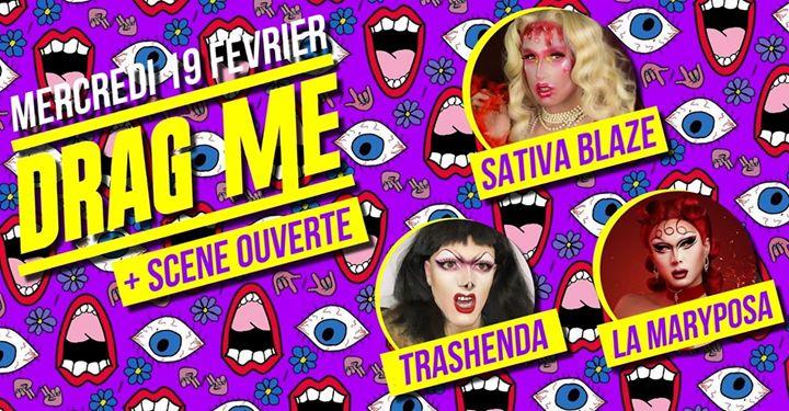 Drag Me #30 Feat Trashenda & La Maryposa + Scène Ouverte Part2 in Paris le Wed, February 19, 2020 at 09:00 pm (After-Work Lesbian)
