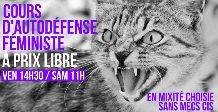 Cours d'autodéfense féministe à prix libre à Paris le ven. 13 décembre 2019 de 14h30 à 16h30 (Atelier Lesbienne)