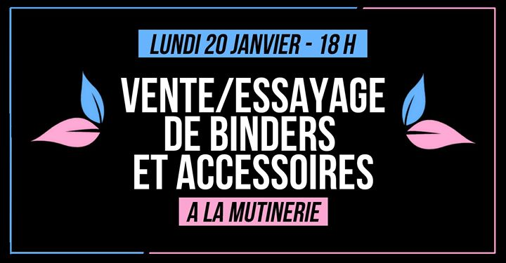 Vente/essayage de binders et accessoires BWYA in Paris le Mo 20. Januar, 2020 18.00 bis 00.30 (After-Work Lesbierin)