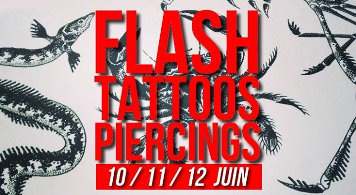 Flash-tattoos et piercings // 3 jours en Paris le lun 10 de junio de 2019 17:00-23:30 (Curso práctico Lesbiana)
