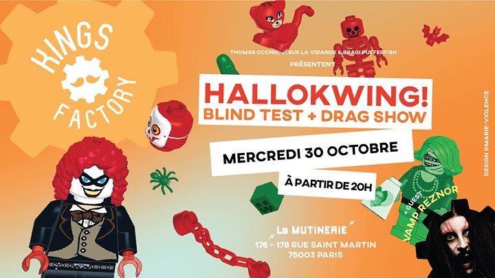 Kings Factory : Hallokwing ! in Paris le Wed, October 30, 2019 from 08:00 pm to 11:00 pm (After-Work Lesbian)