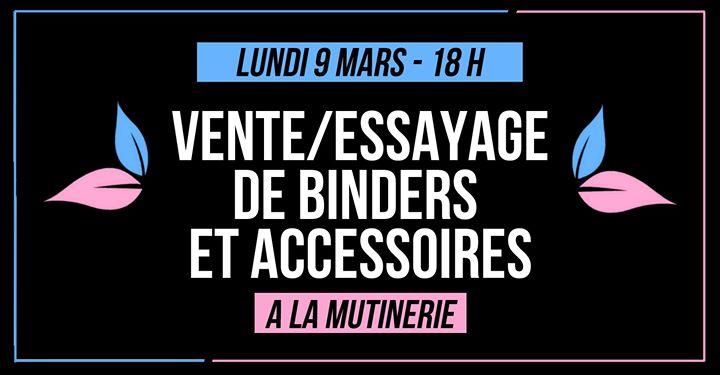 Vente/essayage de binders et accessoires BWYA in Paris le Mon, March  9, 2020 from 06:00 pm to 12:30 am (After-Work Lesbian)