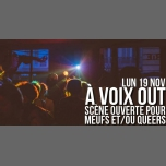 À VOIX OUT - Scène ouverte pour Meufs et/ou Queers in Paris le Mo 19. November, 2018 19.00 bis 23.00 (After-Work Lesbierin)