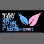 Vente/essayage de binders et accessoires in Paris le Tue, February 19, 2019 from 06:00 pm to 12:30 am (After-Work Lesbian)
