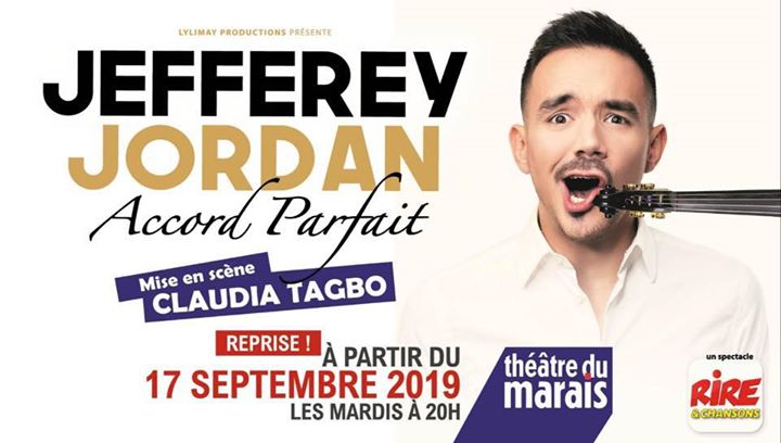 "Jefferey Jordan ""Accord Parfait"" en Paris le mar 26 de noviembre de 2019 20:00-21:00 (Espectáculo Gay Friendly)"