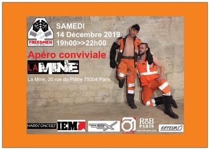 Apéro Conviviale à Paris le sam. 14 décembre 2019 de 19h00 à 22h00 (After-Work Gay)