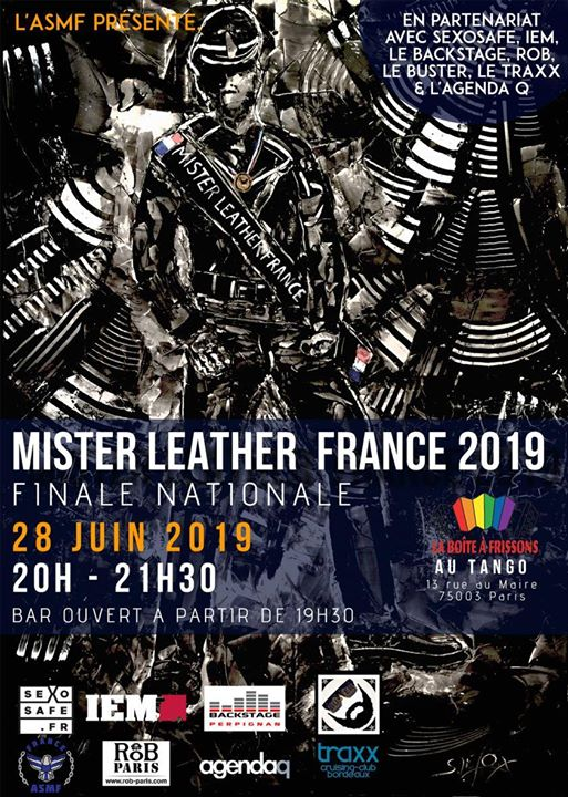 Election du Mister Leather France 2019 in Paris le Fri, June 28, 2019 from 08:00 pm to 11:00 pm (Clubbing Gay)