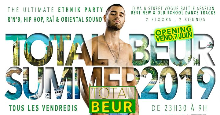TOTAL BEUR in Paris le Fri, July 26, 2019 from 11:30 pm to 06:30 am (Clubbing Gay)