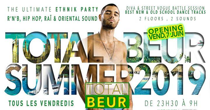 TOTAL BEUR in Paris le Fr 19. Juli, 2019 23.30 bis 06.30 (Clubbing Gay)