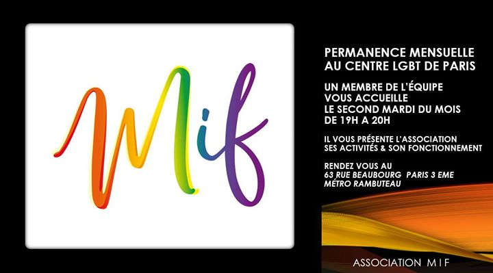 Permanence découverte MIF en Paris le mar 14 de enero de 2020 19:00-20:00 (Reuniones / Debates Gay, Lesbiana, Hetero Friendly, Oso)