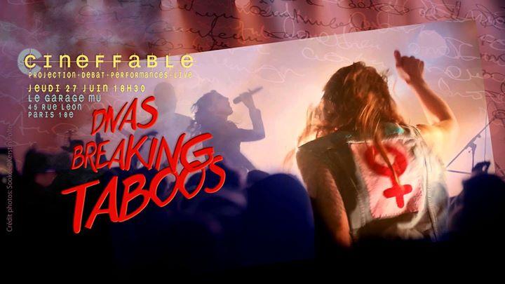 Divas Breaking Taboos ! — Garage MU en Paris le jue 27 de junio de 2019 18:30-22:30 (Cine Lesbiana)
