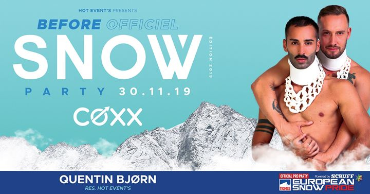 Samedi 30 Novembre : Before snow party Quentin BJØRN a Montpellier le sab 30 novembre 2019 22:00-01:00 (After-work Gay)