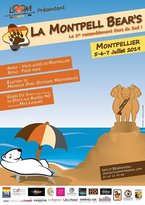 La Montpell Bear's a Montpellier dal  5- 7 luglio 2019 (Festival Gay, Orso)