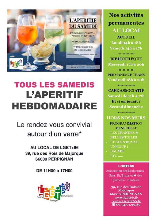 Ouverture Café Associatif Lgbt+66 à Perpignan le sam. 11 mai 2019 de 11h00 à 14h00 (Rencontres / Débats Gay, Lesbienne, Trans, Bi)