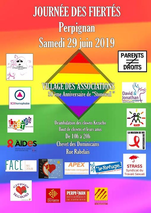 Première Journée des Fiertés de Perpignan in Perpignan le Sat, June 29, 2019 from 10:00 am to 08:00 pm (Meetings / Discussions Gay, Lesbian, Trans, Bi)