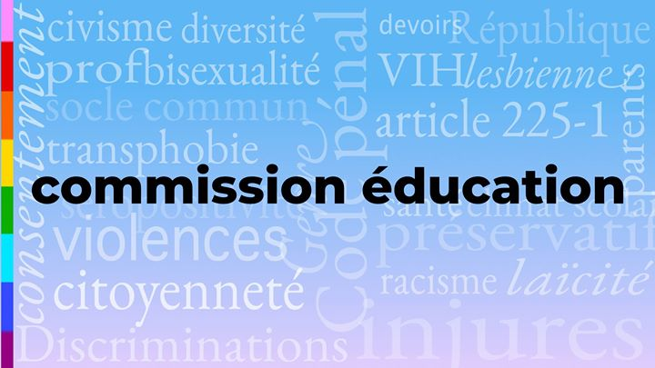 Commission éducation in Nancy le Fr 24. Mai, 2019 19.00 bis 21.00 (Begegnungen / Debatte Gay, Lesbierin)