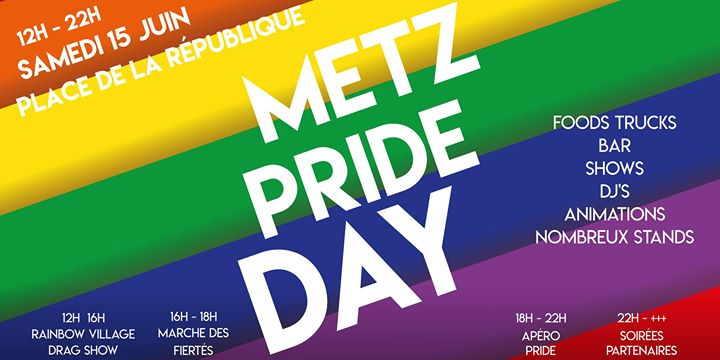 Metz Pride Day in Metz le Sat, June 15, 2019 from 12:00 pm to 10:00 pm (Festival Gay, Bear)