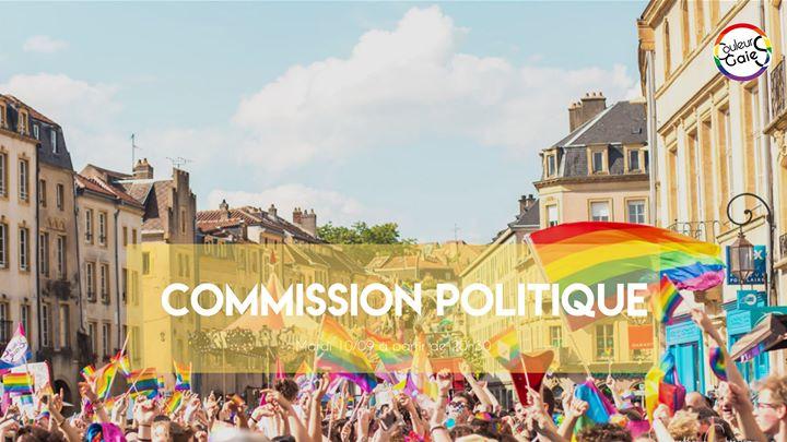 Commission Politique à Metz le mar. 10 septembre 2019 de 20h30 à 21h30 (Rencontres / Débats Gay, Lesbienne)